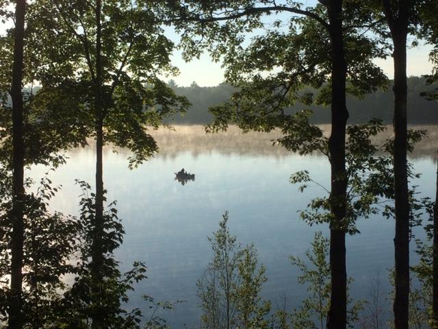 morning fisherman lake